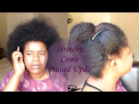 Stretchy Comb Pinned Updo On Natural Hair South Africa Youtube