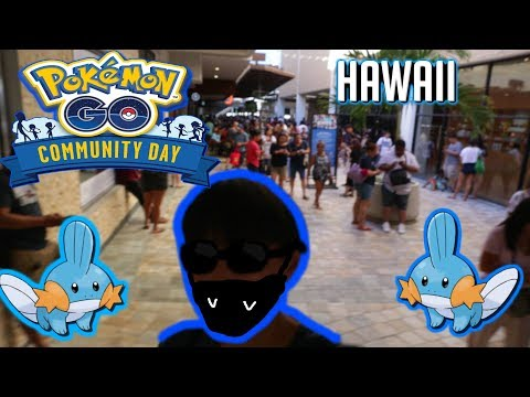 Pokemon Go L Mudkip Community Day Event At Ala Moana (Armored Mewtwo, Mudkips)