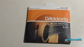 D'Addario EJ10 Bronze Extra Light Strings Unboxing and Review
