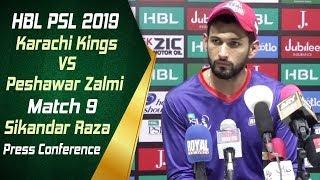 HBL PSL 4 | Match 9 Karachi Kings vs Peshawar Zalmi Post Match Press Conference | Sikandar Raza