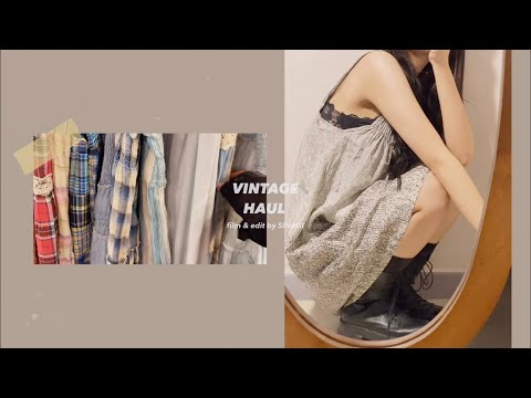 SUB)내 취향가득! ✨빈티지 패션 하울 👗 vintage fashion haul♫•*¨*•.¸¸♪