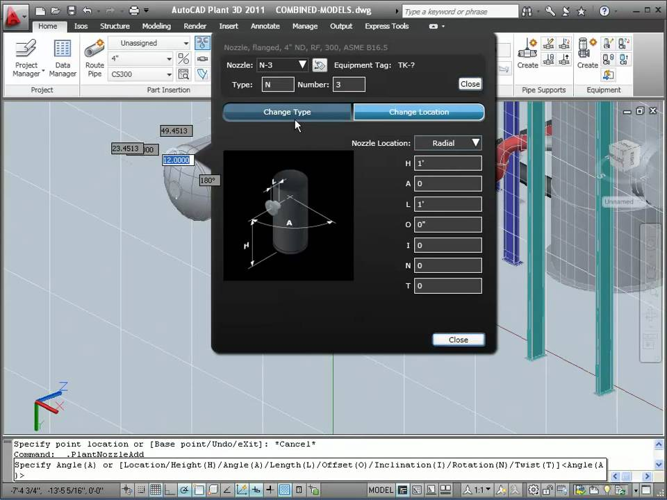 Equipment In Autocad Plant 3D - Youtube