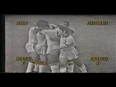 Brazil  v Mexico 3-11-68 'Pele Wonder Goal'