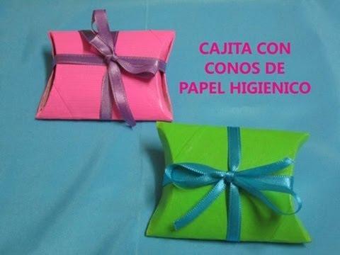 Cajita para regalos con conos de papel higienico youtube - Hacer conos papel ...