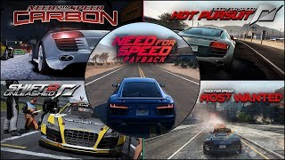 Audi R8 (Le Mans Quattro) Evolution in NFS Games
