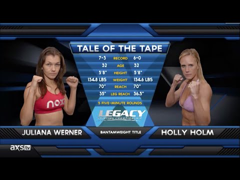 Fight of the Week: Holly Holm With a Familiar Head Kick and Title Win at Legacy 30