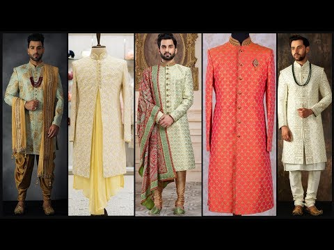 Latest Party wear Sherwani/ Men's sherwani collection/Dulha sherwani/Indian wedding dress- FSHC