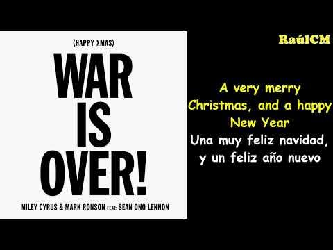 Miley Cyrus, Mark Ronson ft. Sean Ono Lennon - (Happy Xmas) War is Over (Lyrics + Sub Español) Mp3