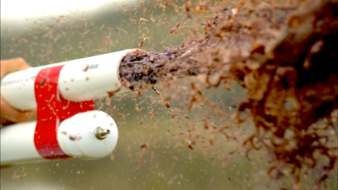 Home-Made Goop Cannon - The Slow Mo Guys