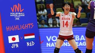 JAPAN vs. NETHERLANDS -  Highlights Women | Week 3 | Volleyball Nations League 2019