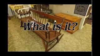 WHAT IS IT?: MAMMY ROCKING CHAIR BENCH STRATHROY ANTIQUE MALL