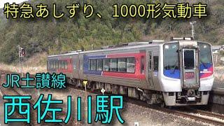 【JR土讃線】2000系特急あしずり 1000形普通 西佐川駅発着&通過集
