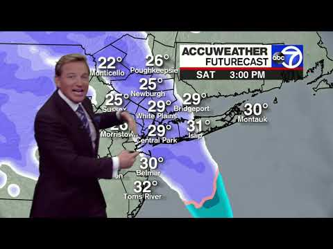 NYC Weather: Snow Forecast For Saturday