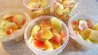 Персики на зиму! Необычный способ заморозки! Готовый десерт