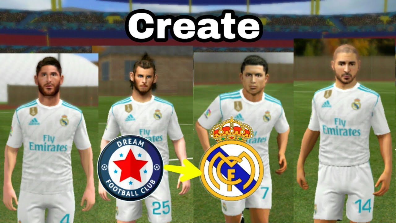 best service d31cd 6ee26 Create Real Madrid Team ★ Kit Logo & Players ★ Dream League Soccer 2018 &  2017