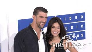 Michael Phelps, Nicole Johnson at 2016 MTV Video Music Awards