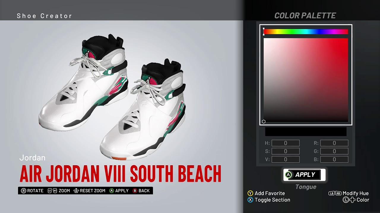 detailed look 8cf07 0bd28 NBA 2K19 Shoe Creator - Air Jordan 8