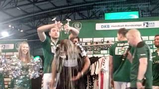 SC DHfK Leipzig: Verabschiedung Christian Prokop mit Bierdusche