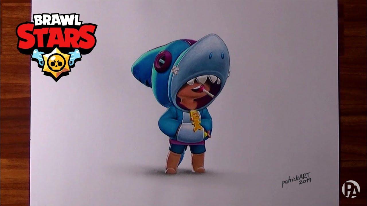 Dibujando A Leon Shark De Brawl Stars Patrickart Youtube
