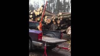 Truck Crane Makes Loading Oak Easy