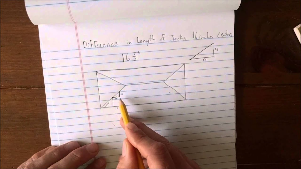 How To Derive The Framing Square Rafter Tables   Lines 3 U0026 4 (Hip Jack  Rafters)