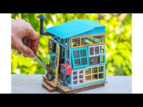 DIY Miniature DollHouse Wooden Hut by Miniature Crafts