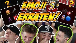 YOUTUBER an EMOJIS erraten! mit Crispy Rob, Sascha und Falco!