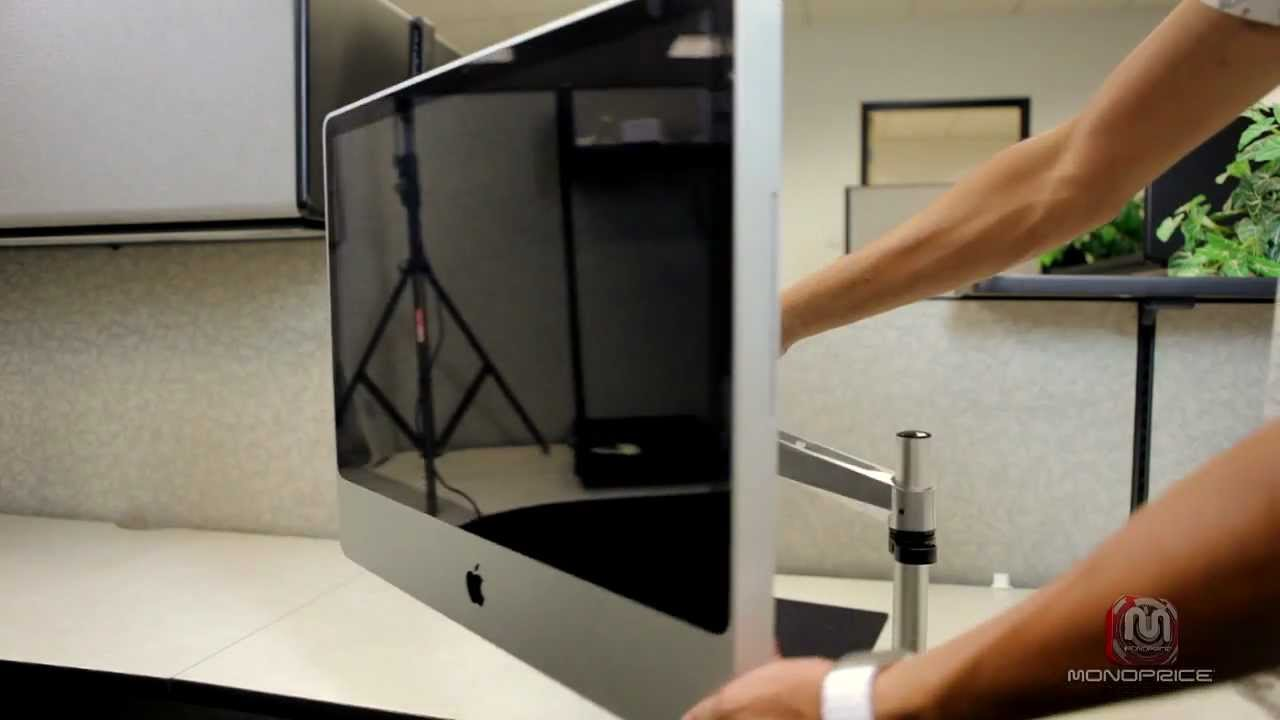 Monoprice How To Imac Desk Mount Youtube