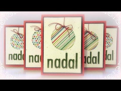 Dn8 c mo hacer tarjetas de navidad r pidas y f ciles youtube - Como hacer targetas de navidad ...