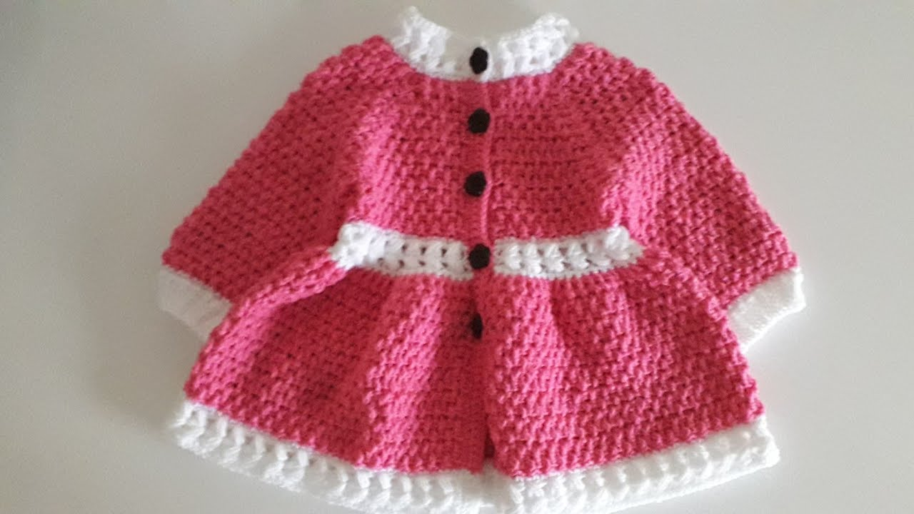 "Crochet #32 How to crochet "" Springtime "" girls coat /part 2"