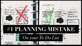 #1 PLANNING MISTAKE ON YOUR TO DO LIST