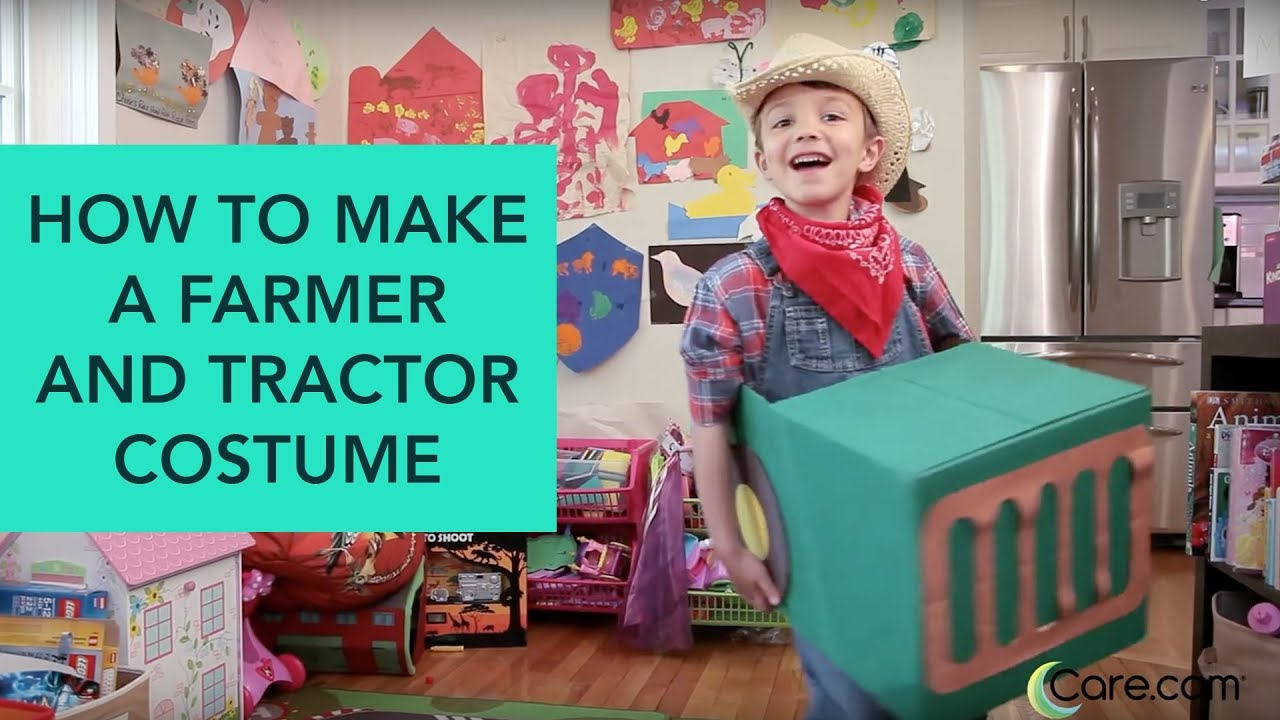 how to make a farmer and tractor costume - easy diy halloween | care