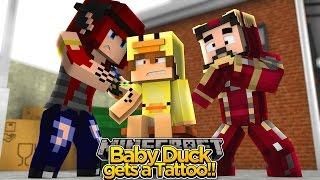 Minecraft Adventure - BABY DUCK GETS A TATTOO!!
