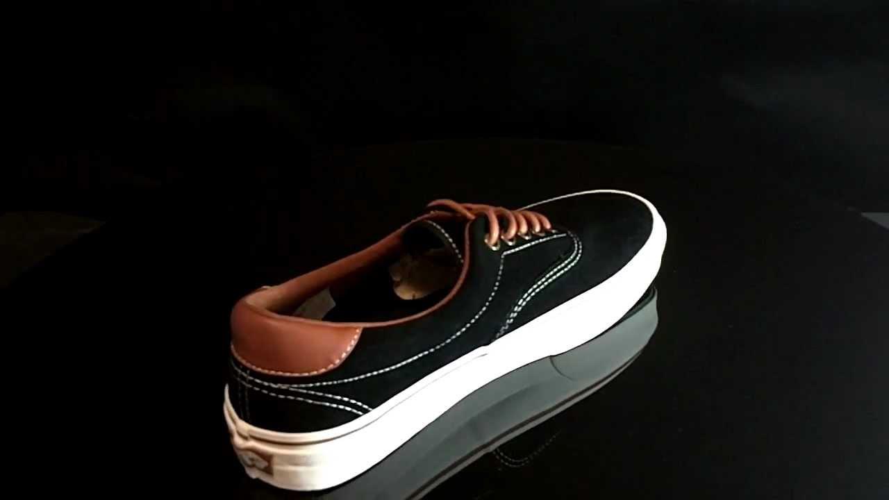 Vans ERA 59 Suede Black Leather Brown VEXD6D7 - YouTube 248d3ea0fd7e