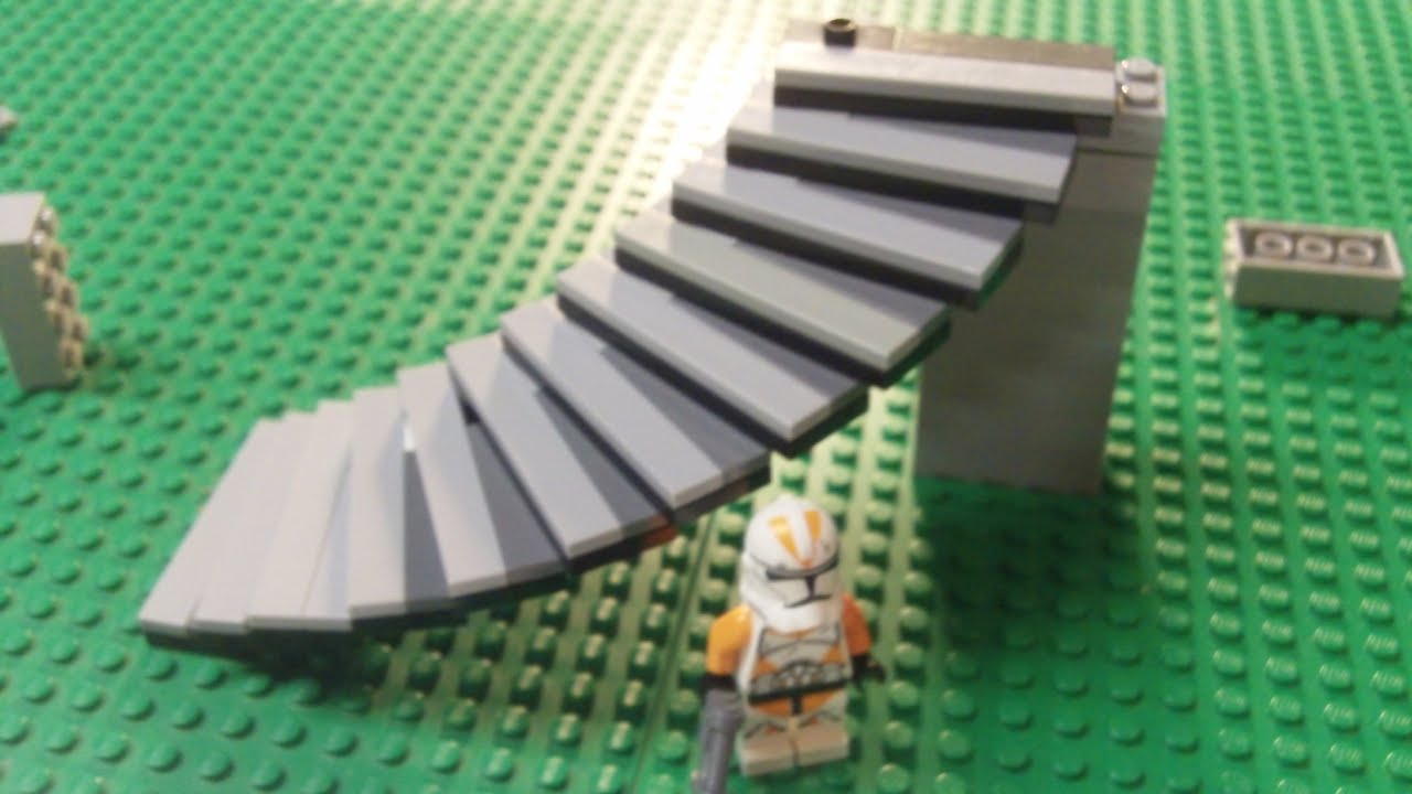 "LEGO Building Tutorials #1 ""Curved Stairs"" (HTM) - YouTube"