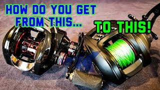 Bass Fishing for Beginners How to Spool YOUR Baitcaster 2018