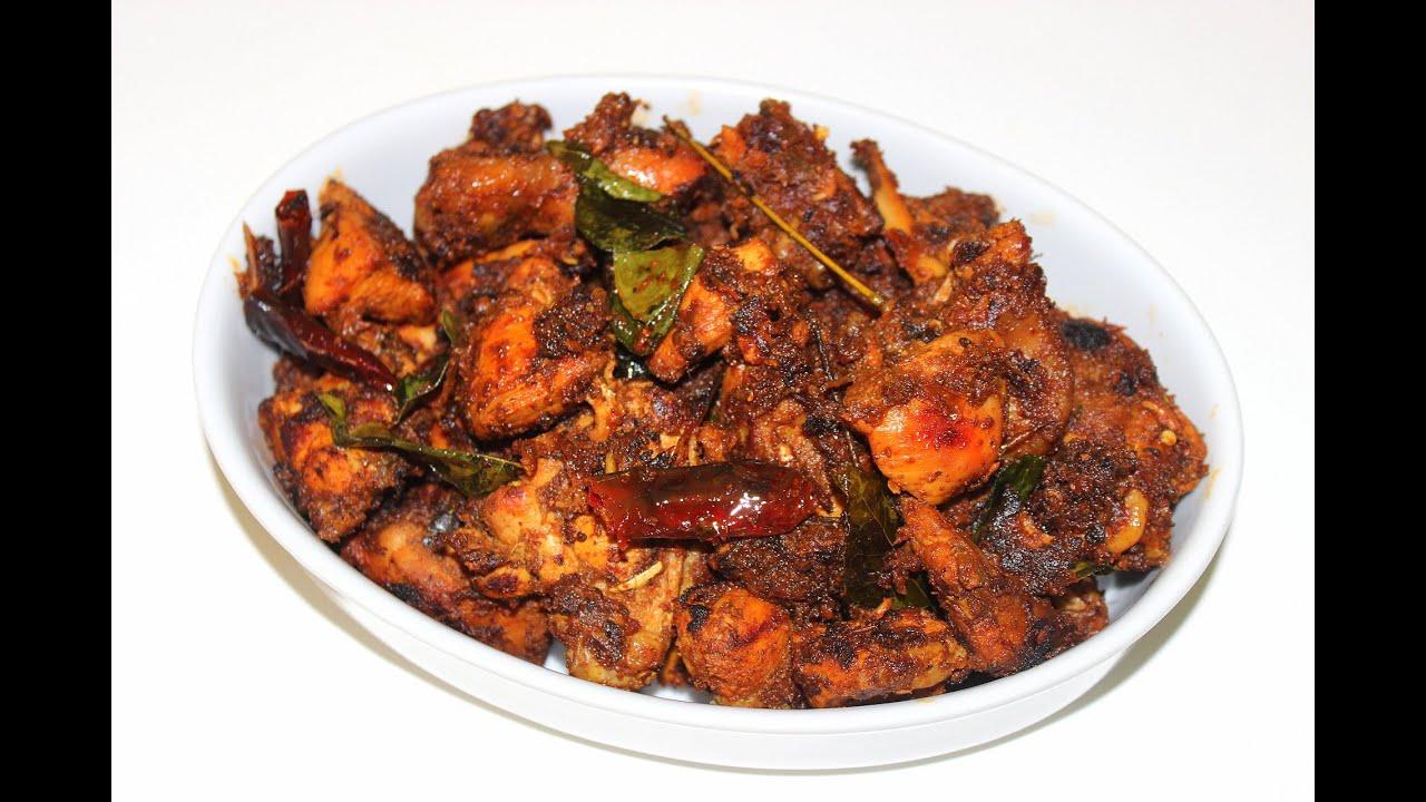 spicy chicken roast kerala style