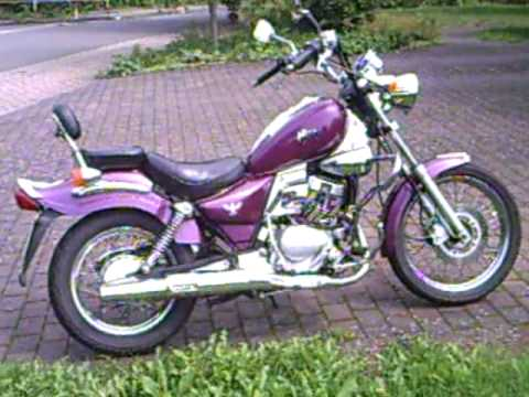 mein sanyang sym husky 125 ccm chopper 04 youtube. Black Bedroom Furniture Sets. Home Design Ideas