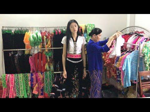 Vlog เดินทาง 53 # เดินตลาดเช้ากินอาหารไต เที่ยวบ้านคนไตขาว เมืองไลเชา