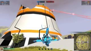 играю в ROBOCRAFT и сбиваю вертолёты