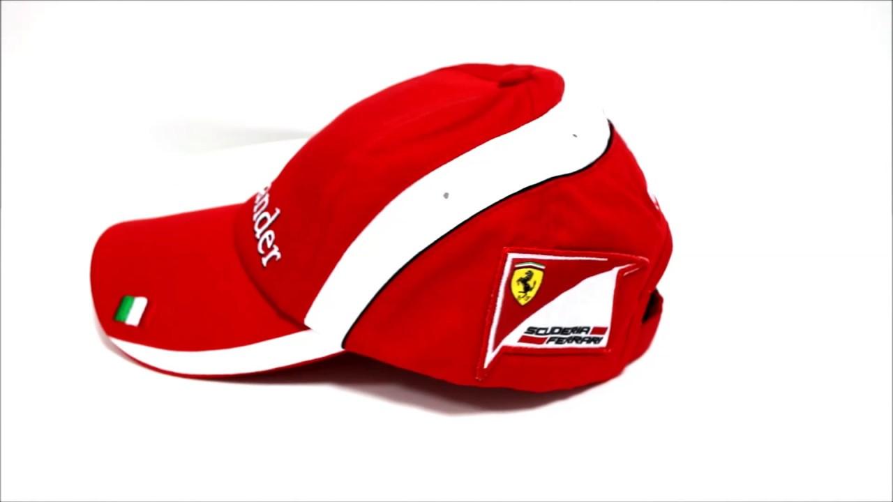 Gorra Scuderia Ferrari Oficial Santander Puma - YouTube bbe8e4f7c14