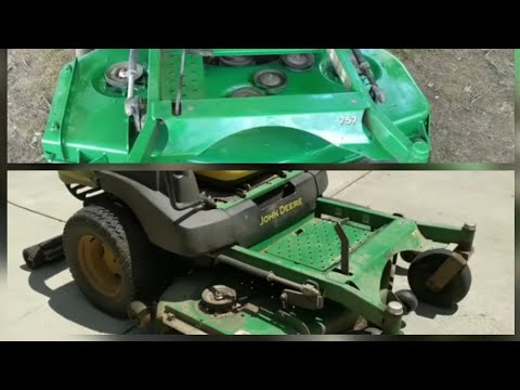 How to Repair and Paint a Rusty Mowing Deck - John Deere 757 zero turn