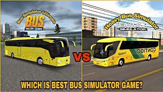 Bus Simulator Ultimate VS Heavy Bus Simulator  Best Bus Games Comparison screenshot 4