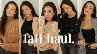 FALL CLOTHING HAUL: basic pieces you need