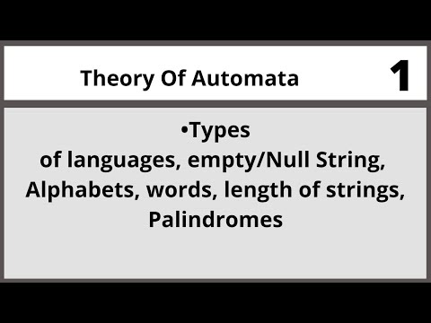 Theory of Automata in Urdu Hindi  CSC312 LECTURE 01