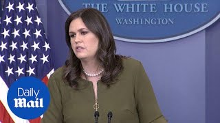 Sarah Huckabee Sanders takes questions on Trump aide Nunberg - Daily Mail