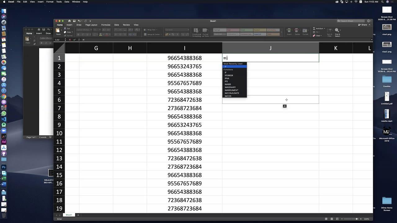 تعديل ملف الاكسل بوضع الفاصلة لعدد لانهائي من الارقام في ثواني لتطبيق اسبريسو لارسال الرسائل