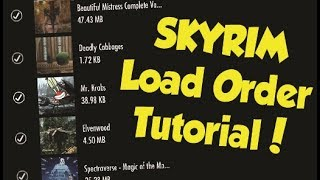 Skyrim How to Properly Arrange Your Load Order! (Xbox One & PS4 Mod Tutorial)
