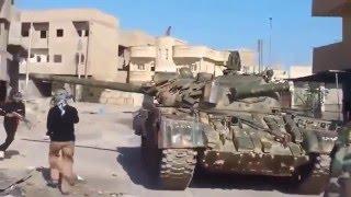Сирия. Хроника войны. Танк ИГИЛ прямым попаданием уничтожен. Съемка очевидцев боя
