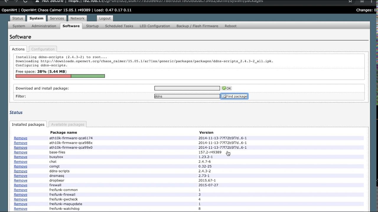 EZR30 OpenWrt Firmware Install DDNS Modules